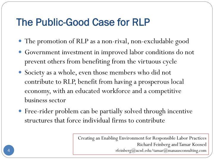 The Public-Good Case for RLP