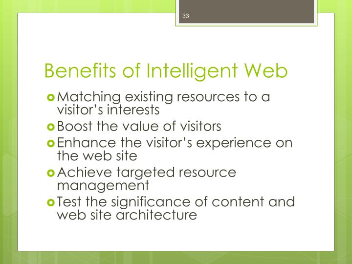 Benefits of Intelligent Web