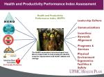 health and productivity performance index assessment