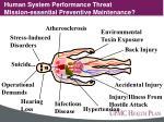 human system performance threats