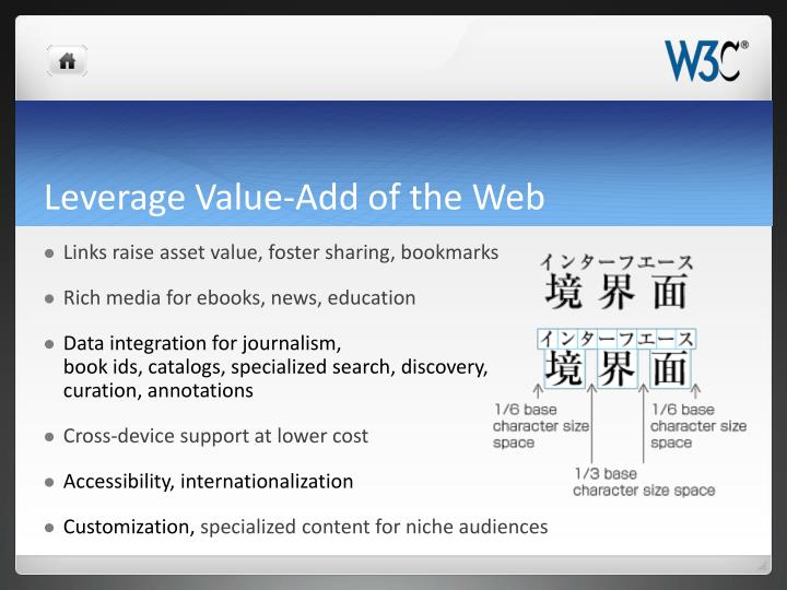 Leverage Value-Add of the Web