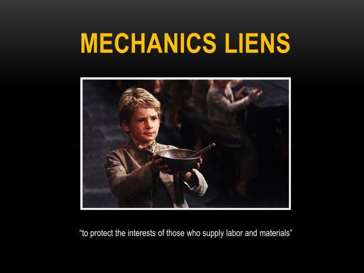 mechanics Liens