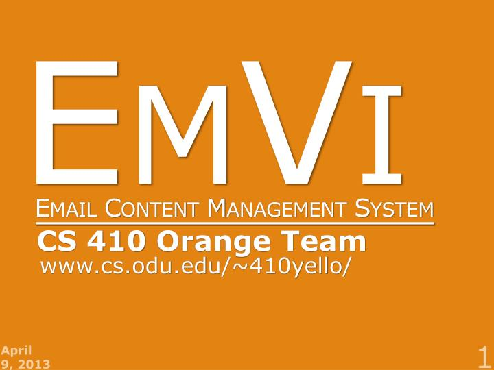 emvi email content management system n.