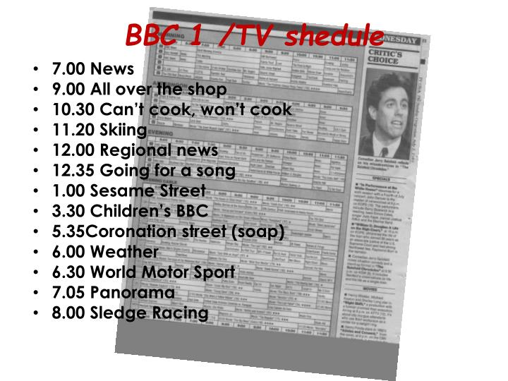 BBC 1 /TV