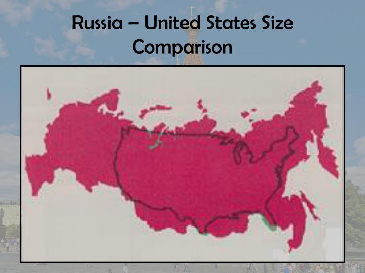 Russia united states size comparison