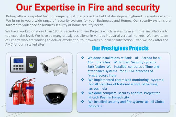 Our Expertise in Fire and security