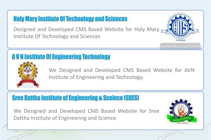 Holy Mary Institute Of Technology and Sciences