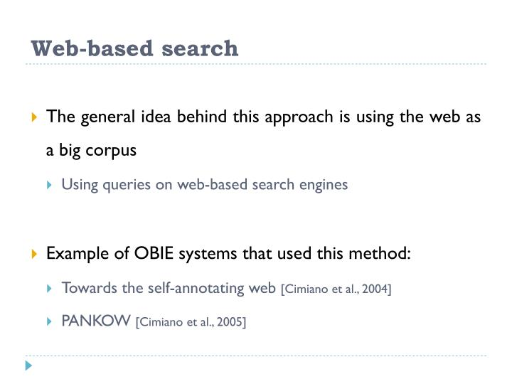 Web-based search