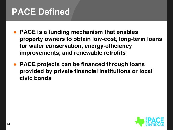 PACE Defined
