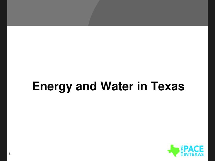 Energy and Water in Texas