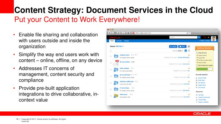 Content Strategy: Document Services in the Cloud