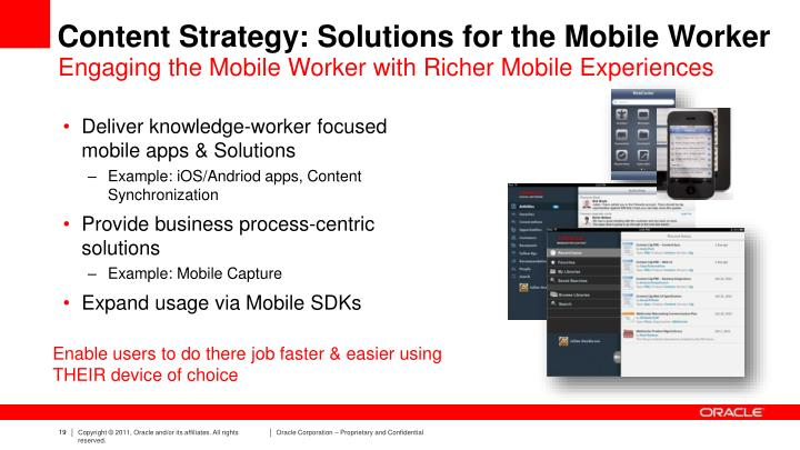 Content Strategy: Solutions for the Mobile Worker