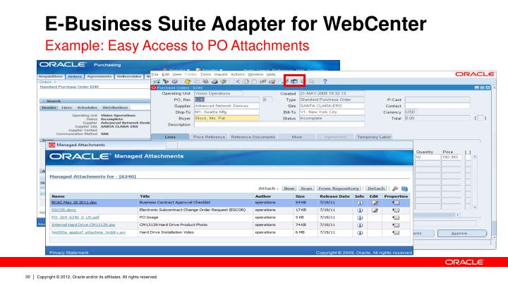 E-Business Suite Adapter for WebCenter
