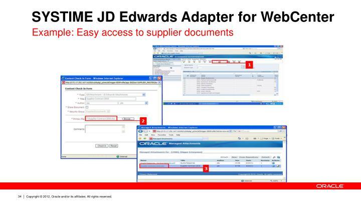 SYSTIME JD Edwards Adapter for WebCenter