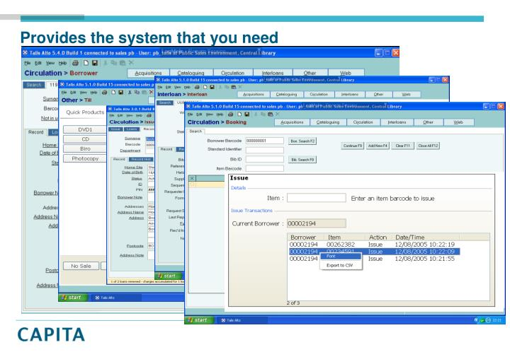 Provides the system that you need