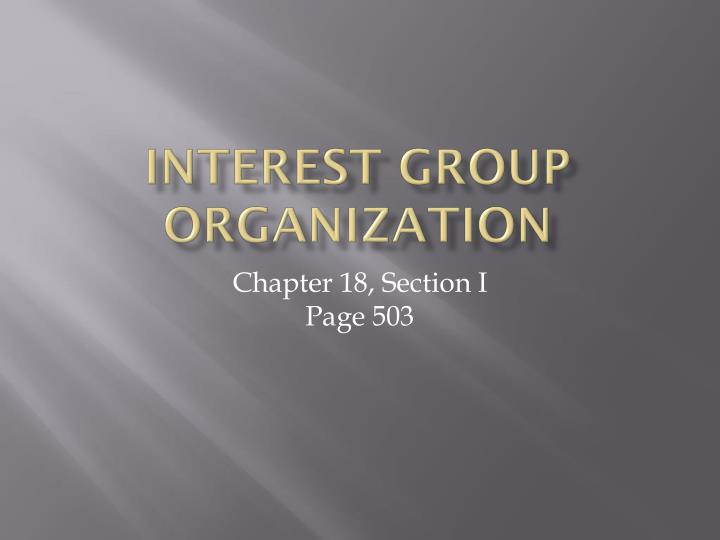 interest group organization n.