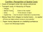 cantillon recognition of spatial costs