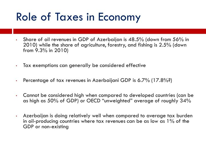 Role of Taxes in Economy