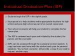 individual graduation plan igp