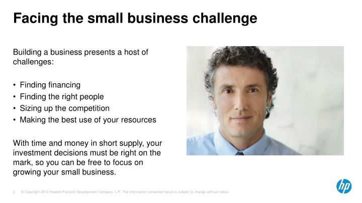 Facing the small business challenge