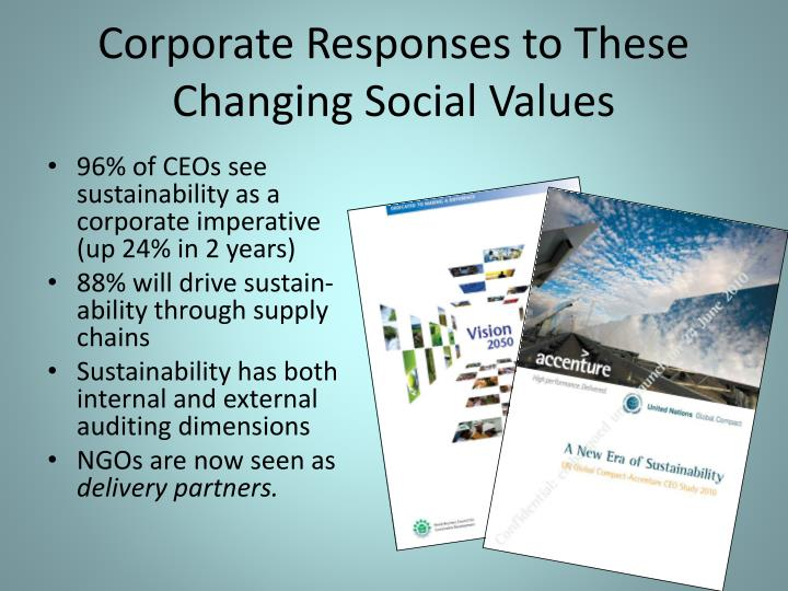 Corporate Responses to These Changing Social Values