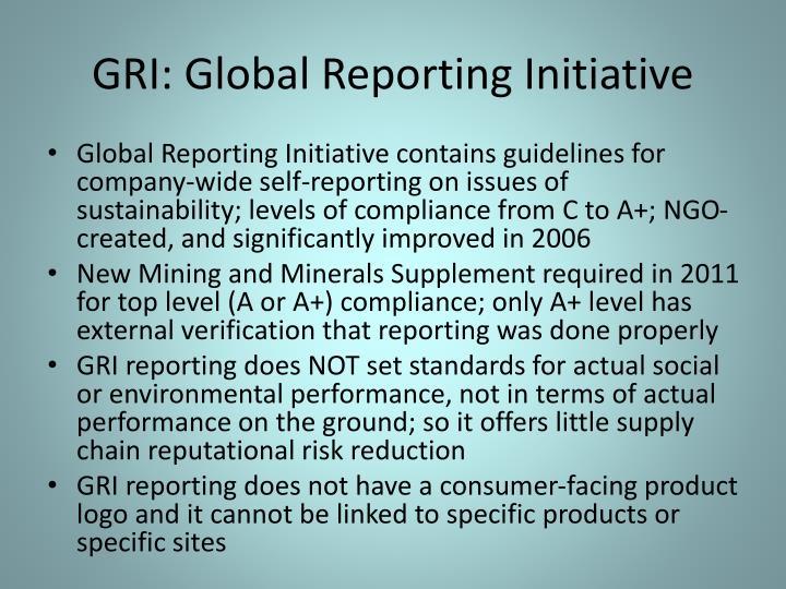GRI: Global Reporting Initiative