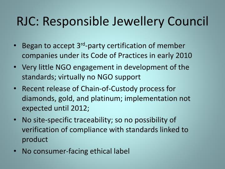 RJC: Responsible