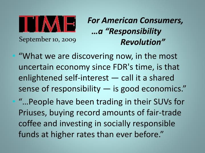 For American Consumers,