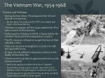 the vietnam war 1954 1968