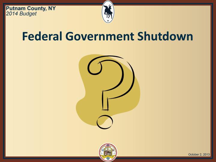 Federal Government Shutdown