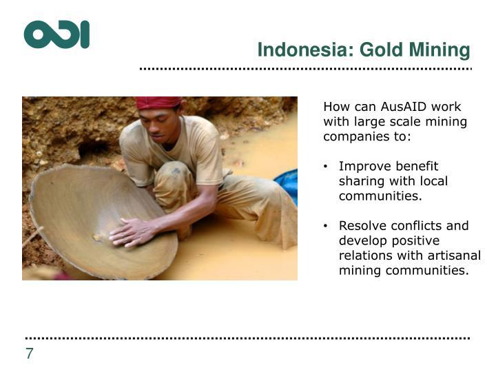 Indonesia: Gold Mining