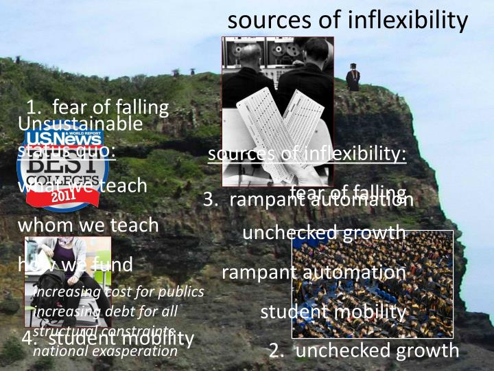 sources of inflexibility