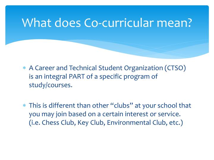what does co curricular mean