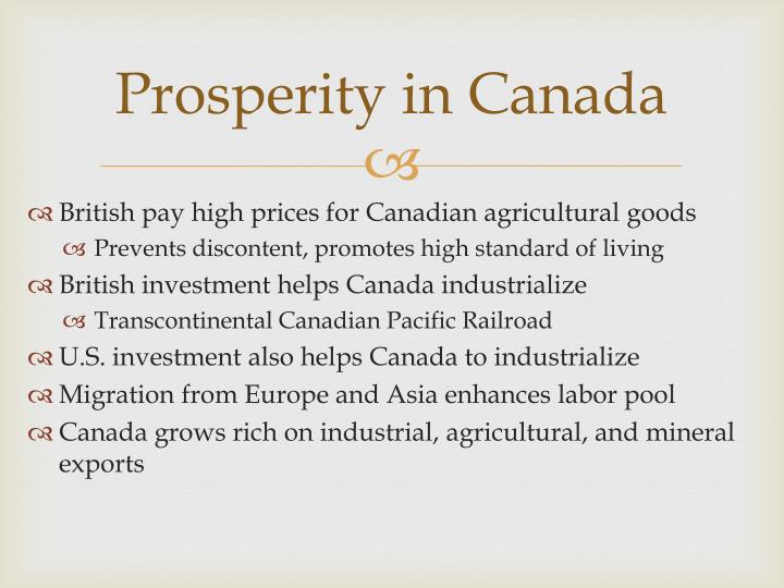 Prosperity in Canada