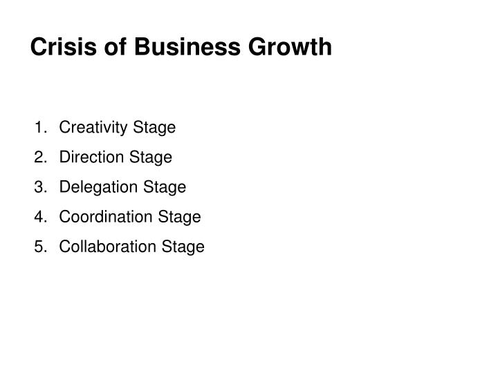 Crisis of Business Growth