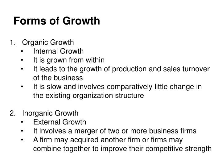Forms of Growth