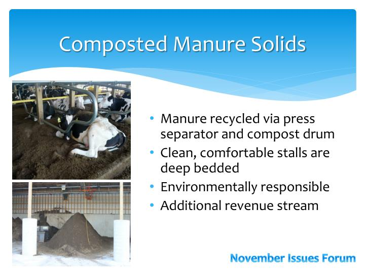 Composted Manure Solids