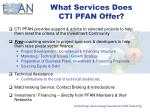 what services does cti pfan offer