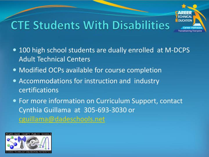 CTE Students With Disabilities