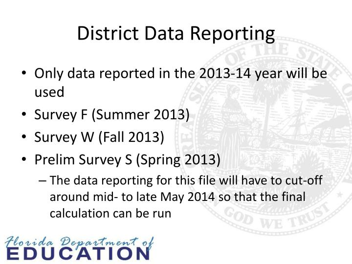 District Data Reporting