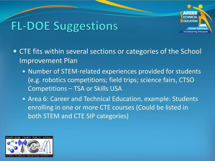 FL-DOE Suggestions