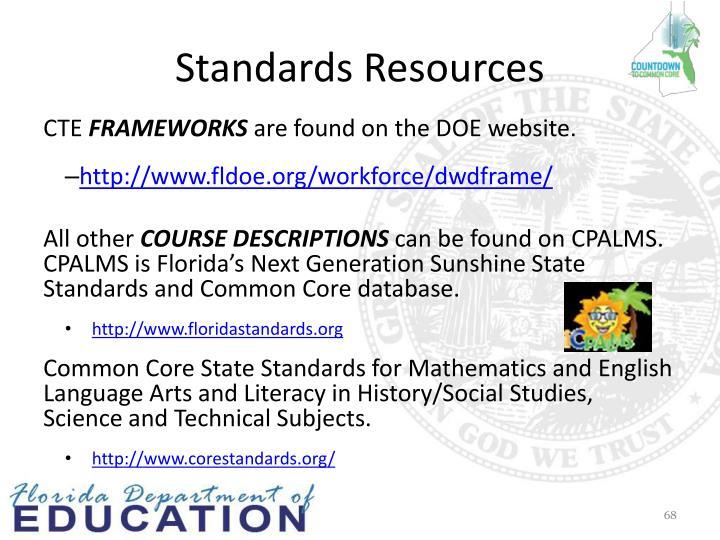 Standards Resources