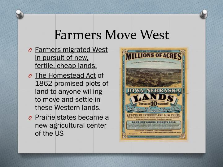 Farmers Move West
