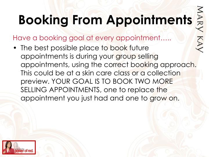 Booking From Appointments