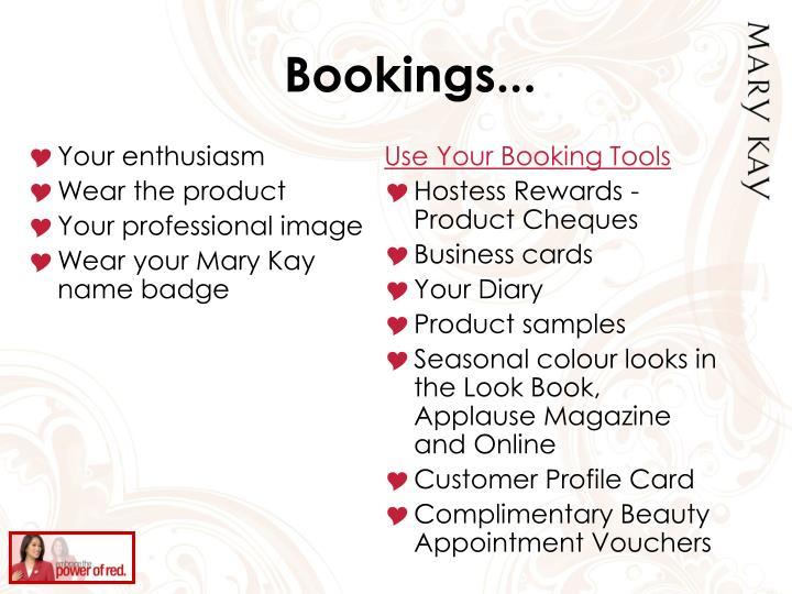 Bookings...