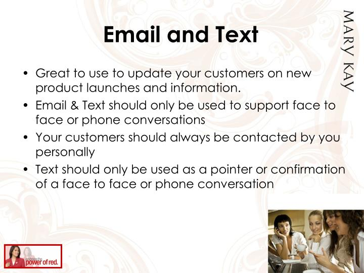 Email and Text