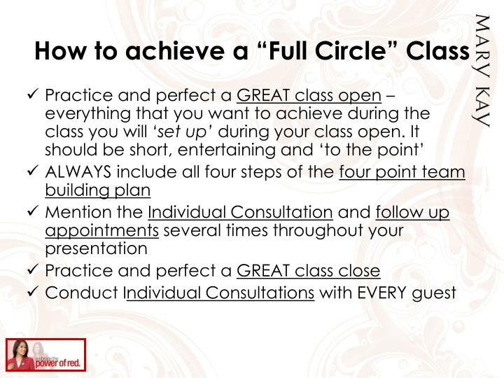 """How to achieve a """"Full Circle"""" Class"""