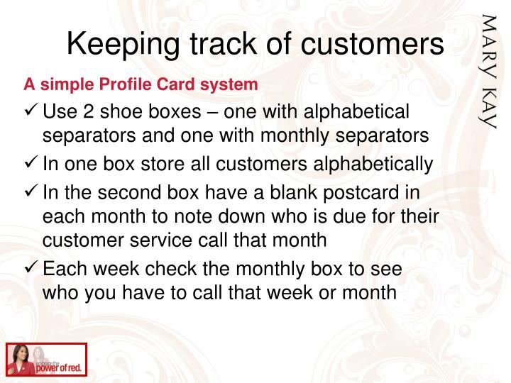 Keeping track of customers