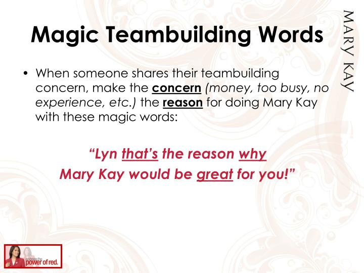 Magic Teambuilding Words