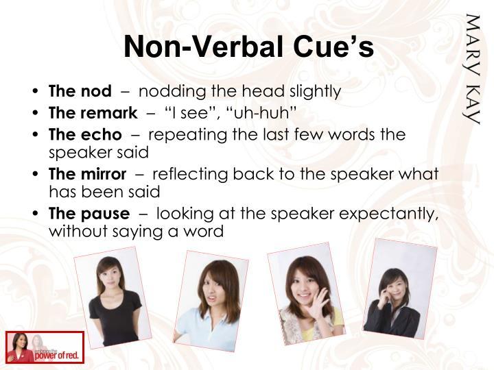 Non-Verbal Cue's